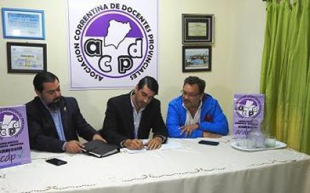 Se firmó convenio entre Subsecretaría de Trabajo y la ACDP