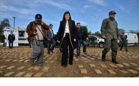 Patricia Bullrich llega a Corrientes para quemar 25 toneladas de droga