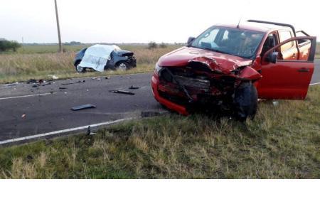Sigue muy grave la mujer herida en accidente fatal sobre Ruta Nº 13