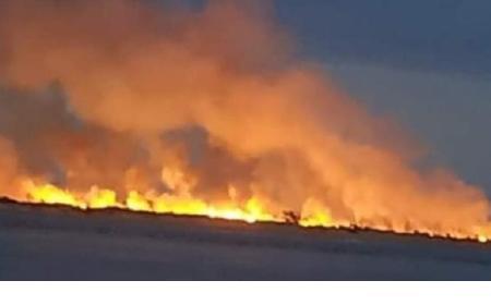 Indignación en Corrientes: Irresponsables provocaron un gran incendio en un banco de arena