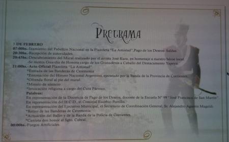 Invitan a vigilia y Acto Oficial de Homenaje al Sgto. Cabral en Pago de los Deseos