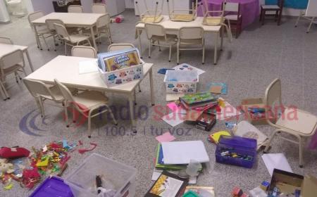 Malviventes saquearon un jardín de infantes