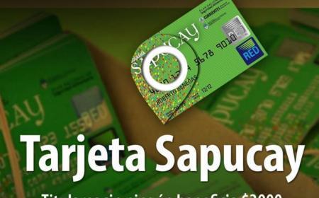 Se habilitan este miércoles 1 las tarjetas Sapucay con $3000 y $1500