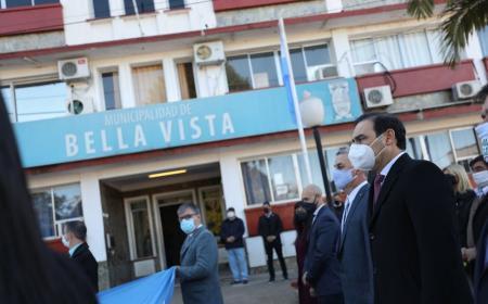 Valdés recorrió obras y celebró el aniversario de Bella Vista