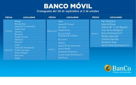 El Banco Móvil de Corrientes estará en 36 localidades