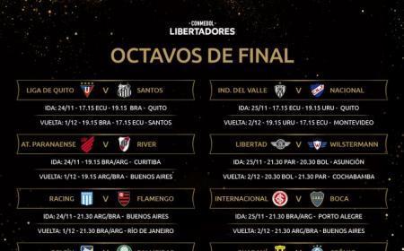 CONMEBOL Libertadores 2020: Paranaense vs River Plate; Racing vs Flamengo e Inter vs Boca Juniors