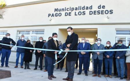 Nueva municipalidad en Pago de los Deseos: Valdés oficializó apertura de flamante edificio